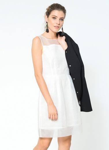Şifon Detaylı Kolsuz Elbise-Tommy Hilfiger